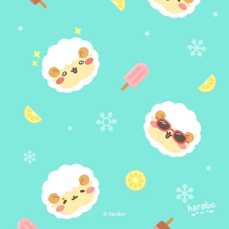 アイスとモフボさんのパターン vol.01